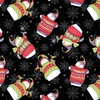 Henry Glass Sweater Weather Flannel Snowmen Black