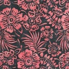 Anthology Fabrics Mary Inman Batik Flowers Charcoal