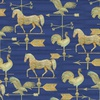 3 Wishes Fabric Patriotic Summer Weathervane Navy