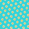 Andover Fabrics The Coop Fried Eggs Teal