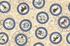 Quilting Treasures Intergalactic Zodiac Medallions Cream