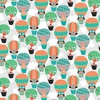 Studio E Fabrics Owl's Woodland Adventure Hot Air Balloons Light Gray