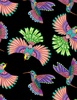 Wilmington Prints Rainbow Flight Birds Black