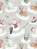 Wilmington Prints Woodland Friends Animals Gray