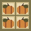 Pumpkin Patch - Four Pumpkins Free Quilt Pattern