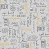 Windham Fabrics Road Trippin Direction Signs Light Grey