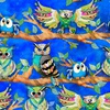 3 Wishes Fabric Go Owl Out Owls Royal
