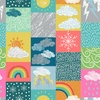 Lewis and Irene Fabrics Whatever The Weather Blocks Bright