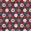 Northcott Stonehenge Stars and Stripes Big American Hexies 108 Inch Backing