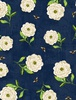 Wilmington Prints Floral Serenade Peony Navy