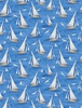 Wilmington Prints Harbor Lights Sailboats Blue