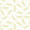 Hoffman Fabrics Graceful Garden Dragonflies White/Gold