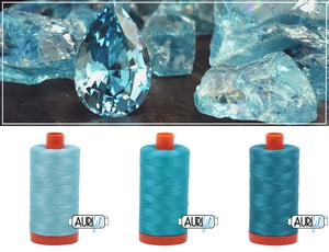 Aurifil Thread Gem Pack - March/Aquamarine