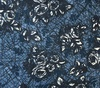 Northcott Banyan Batiks Rough Sketch Roses Denim