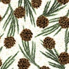 Hoffman Fabrics Meet Magnolia Pinecones Brown