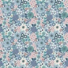 Lewis and Irene Fabrics Michaelmas Multi Floral Light Blue