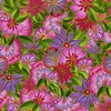 Clothworks Sea Goddess Floral Fuchsia