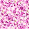Clothworks Orchid Fancy Packed Floral Light Fuchsia
