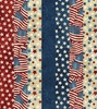 Northcott Stonehenge Stars and Stripes Old Glory No Sew Stripe Border
