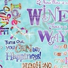 3 Wishes Fabric Sip and Snip Wine Words