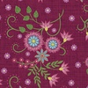 Maywood Studio Flower and Vine Floral Allover Red