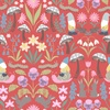 Lewis and Irene Fabrics Jolly Spring Gnomes Mirrored Red
