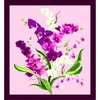 Clothworks Orchid Fancy Panel Orchid