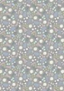 Lewis and Irene Fabrics Fairy Lights Magical Flowers Grey