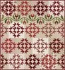 Ruby Red (Cream) Quilt Kit