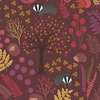 Lewis and Irene Fabrics Under the Oak Trees Scenic Dark Brown