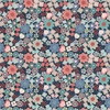 Lewis and Irene Fabrics Michaelmas Multi Floral Dark Blue