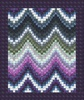 Coastal Getaway Batiks Ebb and Flow Bargello Quilt Kit
