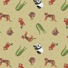 Lewis and Irene Fabrics Small Things World Animals Asian Bamboo