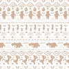 Camelot Fabrics Winnie the Pooh Wonder Whimsy Stripe Silhouette White