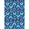 Benartex Social Butterfly Celebration Blue