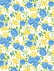 Wilmington Prints Fleurette Rose Garden White/Blue