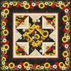 Sunset Blooms Free Quilt Pattern