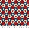 Northcott Stonehenge Stars and Stripes Little Star Hexies