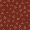 Henry Glass Esther's Heirloom Shirtings Tossed Leaves Red
