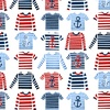 Studio E Fabrics A Whale Of A Time Striped Shirts White