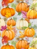 Wilmington Prints Happy Gatherings Pumpkin Gray