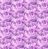 Clothworks Misty Meadow Packed Petals Purple