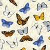 Clothworks Sunny Fields Butterflies Cream