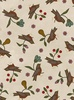 Maywood Studio Home Sweet Home Flannel Birds and Flowers Natural