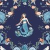 Clothworks By The Seashore Damask Light Navy