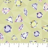 Northcott Facets Multicolor Gemstones Green