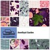 Amethyst Garden Fat Quarter Bundle by Clothworks