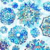 Quilting Treasures Kashmir Mandalas Blue