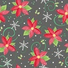 In The Beginning Fabrics Joy Peace Love Poinsettias