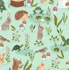 Clothworks Woodland Wander Animal Toss Light Mint